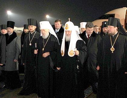 Святейший Патриарх Кирилл прибыл в Киев и отслужил молебен накануне инаугурации новоизбранного Президента Украины