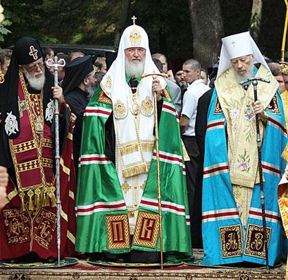 Слово Святейшего Патриарха Кирилла после молебна у памятника Крестителю Руси на Владимирской горке