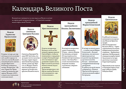 Календарь Великого поста (инфографика)