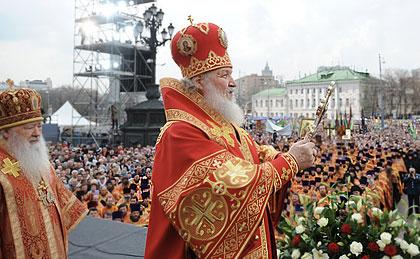 Проповедь Патриарха на молебне в защиту веры