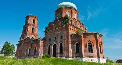 Свято-Георгиевский храм в Манаенках