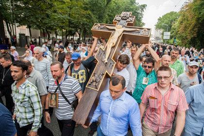 Молебен на Владимирской горке и Всеукраинский Крестный ход